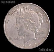 1923 D Peace Silver Dollar Circulated Coin VG-8 or Better
