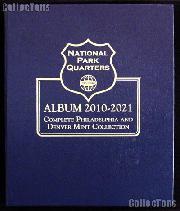 National Park Coins Album by Whitman P & D 2010 - 2021 #3057
