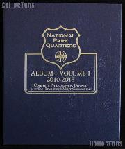 National Parks Coin Album by Whitman P, D, & S Proof 2010 - 2015 Volume 1 #3058