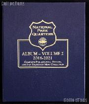 National Parks Coins Album by Whitman P, D, & S Proof 2016 - 2021 Volume 2 #3059