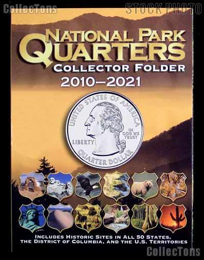 America The Beautiful Coin Folder by Whitman for National Park Quarters Program 2010-2021