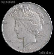 1927 D Peace Silver Dollar Circulated Coin VG-8 or Better