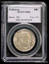 1936 Arkansas Centennial Robinson Silver Commemorative Half Dollar in PCGS MS 65