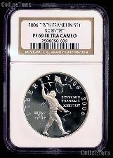 2006-P Benjamin Franklin Scientist Tercentenary Silver Commemorative Proof Dollar in NGC PF 69 Ultra Cameo