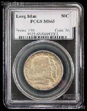 1936 Long Island Tercentenary Silver Commemorative Half Dollar in PCGS MS 65