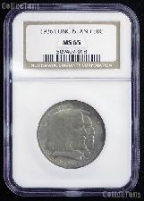 1936 Long Island Tercentenary Silver Commemorative Half Dollar in NGC MS 65