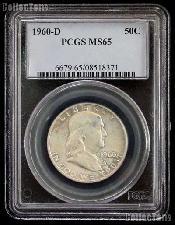 1960-D Franklin Silver Half Dollar in PCGS MS 65
