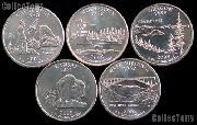 2005 Quarters Set of 10 BU Coins 2005 State Quarters P & D Mints