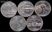2007 Quarters Set of 10 BU Coins 2007 State Quarters P & D Mints