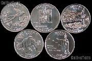 2008 Quarters Set of 10 BU Coins 2008 State Quarters P & D Mints