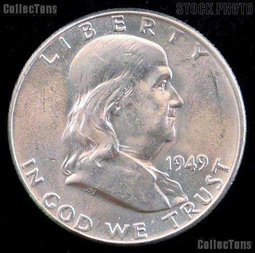 1949 Franklin Half Dollar Silver * Choice BU 1949 Franklin Half