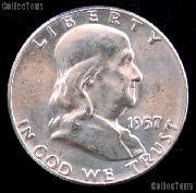 1957 Franklin Half Dollar Silver * Choice BU 1957 Franklin Half