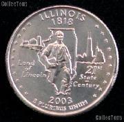 Illinois Quarter 2003-D Illinois Washington Quarter * GEM BU for Album