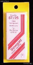 Showgard Pre-Cut Clear Stamp Mounts Size 67/25