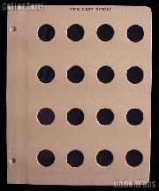 Dansco Page for Two Cent Pieces Blank Dansco Album Page