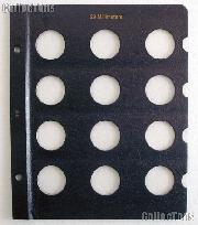Whitman Page for 29mm Coins Blank Whitman Album Page