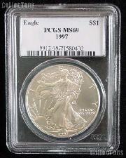 1997 American Silver Eagle Dollar in PCGS MS 69
