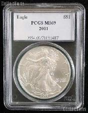 2001 American Silver Eagle Dollar in PCGS MS 69
