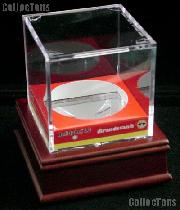 Baseball Holder Display w/ Wood Stand by BCW Wood Base with Baseball Square