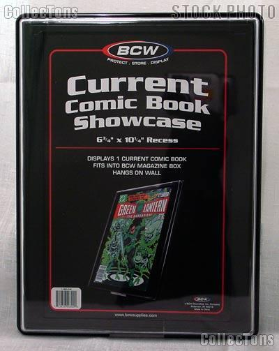 2 comic book frames by bcw 2 wall mountable comic book showcases. Black Bedroom Furniture Sets. Home Design Ideas