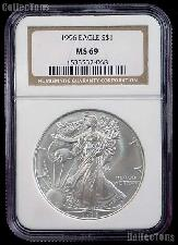 1996 American Silver Eagle Dollar in NGC MS 69
