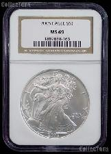 2005 American Silver Eagle Dollar in NGC MS 69