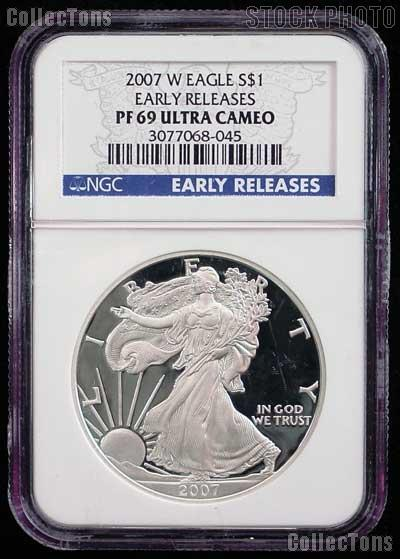 2007 W American Silver Eagle Dollar Proof Early Releases