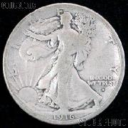 1916-S Walking Liberty Silver Half Dollar Obverse Mintmark KEY DATE Circulated Coin G 4 or Better