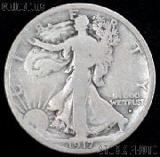 1917-D Walking Liberty Silver Half Dollar Obverse Mintmark Circulated Coin G 4 or Better