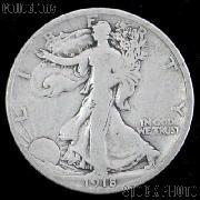 1918 Walking Liberty Silver Half Dollar Circulated Coin G 4 or Better