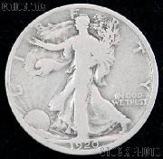 1920 Walking Liberty Silver Half Dollar Circulated Coin G 4 or Better
