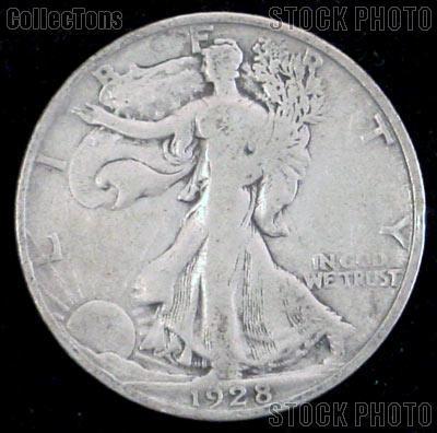 1928 S Walking Liberty Silver Half Dollar Circulated Coin