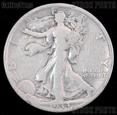 1933 S Walking Liberty Silver Half Dollar Circulated Coin