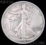 1942 Walking Liberty Silver Half Dollar Circulated Coin G 4 or Better