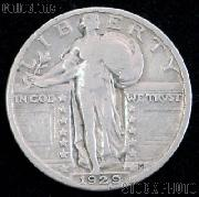 1929 Standing Liberty Silver Quarter Circulated Coin G 4 or Better