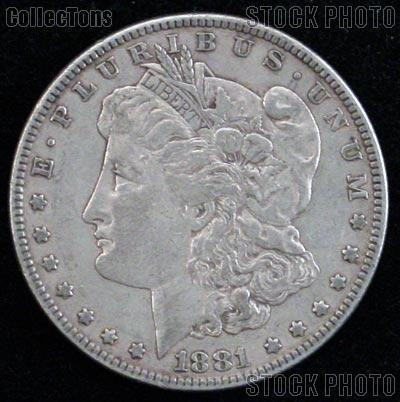 1881 S Morgan Silver Dollar Circulated Coin VG 8 or Better