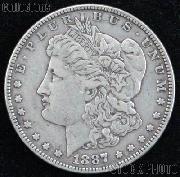 1887 Morgan Silver Dollar Circulated Coin VG 8 or Better