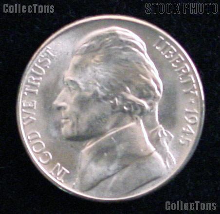 1945-S Jefferson Silver War Nickel Gem BU (Brilliant Uncirculated)