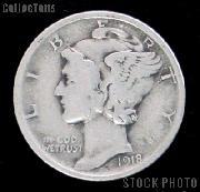 1918 Mercury Silver Dime 1918 Mercury Dime Circ Coin G 4 or Better