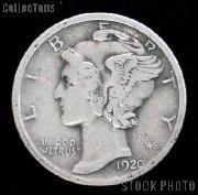 1920 Mercury Silver Dime 1920 Mercury Dime Circ Coin G 4 or Better