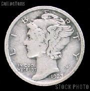 1923 Mercury Silver Dime 1923 Mercury Dime Circ Coin G 4 or Better