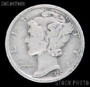1926 Mercury Silver Dime 1926 Mercury Dime Circ Coin G 4 or Better