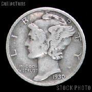 1930 Mercury Silver Dime 1930 Mercury Dime Circ Coin G 4 or Better