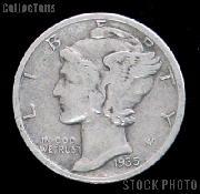 1935 Mercury Silver Dime 1935 Mercury Dime Circ Coin G 4 or Better