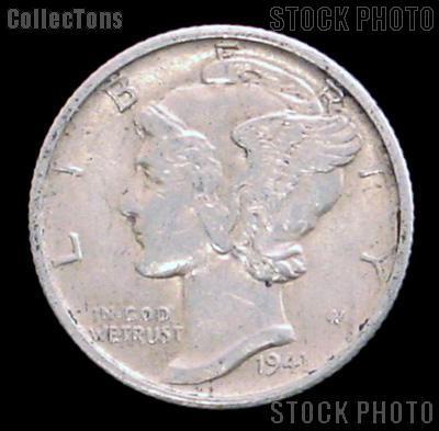 1941 S Mercury Silver Dime 1941 Mercury Dime Circ Coin G 4