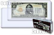 Currency Holders Large by BCW Pack of 25 Currency Holders Toploaders