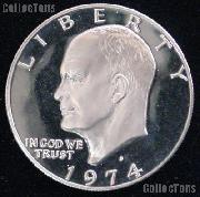 1974-S Eisenhower Silver Dollar GEM Proof 1974 Ike Dollar Proof