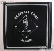 Baseball Card Album by BCW 3 Ring Trading Card Album in Black