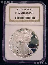 2006-W American Silver Eagle Dollar PROOF in NGC PF 69 ULTRA CAMEO