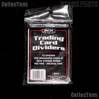 Card Dividers for Sports Cards by BCW 10 Packs of 10 Trading Card Dividers
